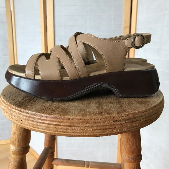 Dansko Shoes - Dansko size 37 tan leather sandals comfort shoe co